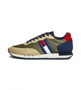 Comprare Tommy Hilfiger Sneakers Retro Mix TJM Runner in pelle verde