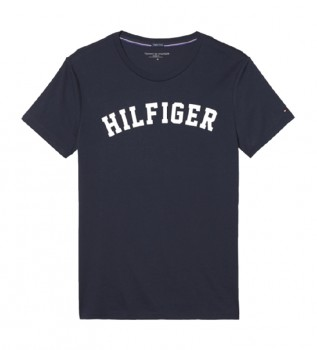 Comprare Tommy Hilfiger T-shirt blu navy con logo SS
