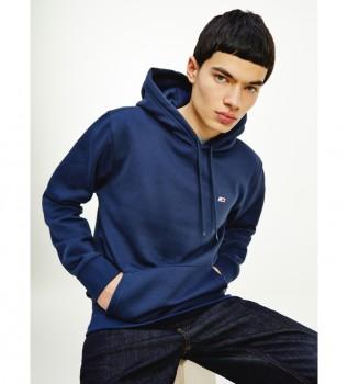 Acheter Tommy Hilfiger Sweat à capuche ordinaire avec doublure polaire bleue