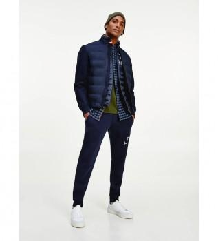 Comprare Tommy Hilfiger Pantaloni della tuta con grafica avvolgente blu scuro
