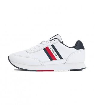 Acheter Tommy Hilfiger Essential Runner Stripes, baskets en cuir blanc
