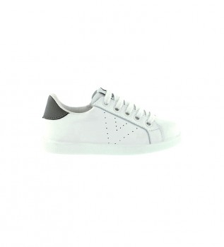 Buy Victoria White leather sneakers Zipper