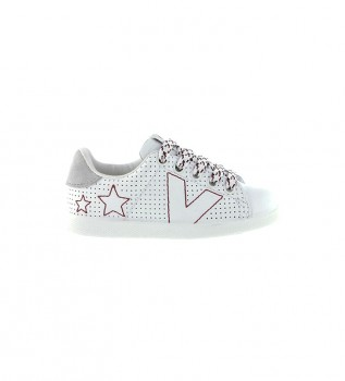 Buy Victoria Leather tennis shoes Embroidery white