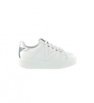 Comprar Victoria Utopia sapatos de couro branco, azul