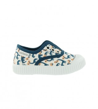 Buy Victoria English slipper by Jessica Nielsen blue