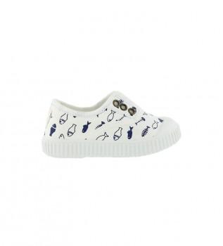 Comprare Victoria Pantofole Pesce Colorate Bianche