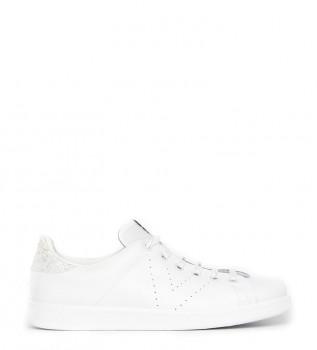 78188c66ce Victoria Zapatillas de piel Glitter blanco