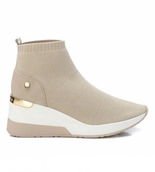 Comprar Xti Botas de tornozelo 042571 taupe - cunha de altura 6cm
