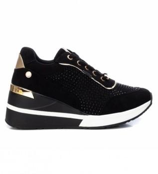 Buy Xti Sneakers 043422 black - Wedge height 7cm