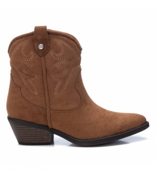 Buy Xti Ankle boots 044583 camel -Heel height: 5 cm