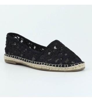 Xti - Zapato Plano Yute 046917neg Negro En Venta 2018 Estilo de moda Barato confiable Compre una tienda de liquidación económica X7fhs0c9