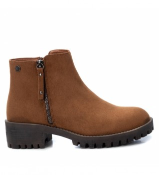 Buy Xti Ankle boots 034400 camel -Heel height: 5 cm