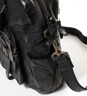 Privata Lavato messaggero del cuoio Nuovo Crackle black-30x38x13,5 cm-