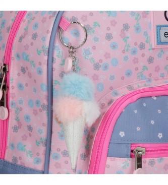 Enso Mochila 2 Ruedas My Sweet Home -33x44x21cm- rosa, azul