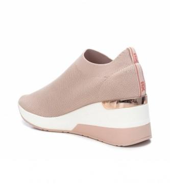 Xti Zapatos 035659 nude -altura cuña 7cm-