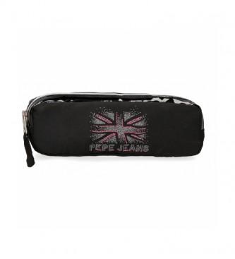 Pepe Jeans Trousse à crayons Ada noire -22x7x3cm