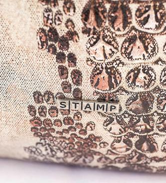 Stamp Beige bag Deneb -37x39x15cm-