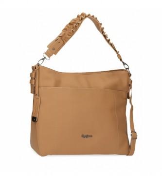 Pepe Jeans Aina shoulder bag -34x30x11cm- ochre