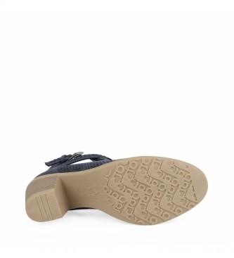 Chika10 Tonia 04 botas de tornozelo marinho - Altura do calcanhar: 7cm