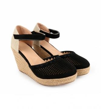 Chika10 Sandálias Nadia 15 preto - Altura da cunha: 8cm