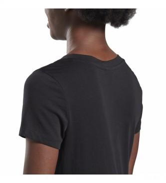 Reebok T-shirt nera GB con scollo a V Vector Tee