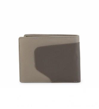 Piquadro Carteira de couro PU4823AOR cinza -11,5x9,5x1cm