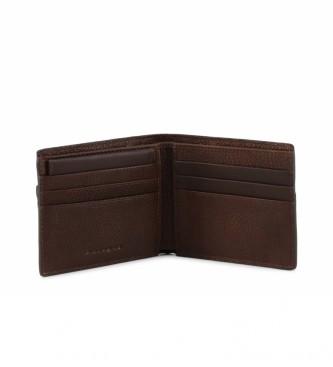 Piquadro Carteira de couro PU3891W95R marrom -10,5x9x1,5cm