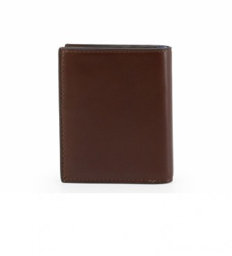 Piquadro Leather Wallet PU3244BOR navy -10x8,5x2cm