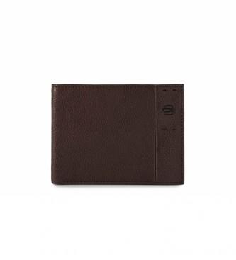 Piquadro Portafoglio in pelle PU1241P15S nero -13x10x1,5cm-