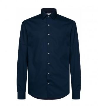 Calvin Klein Camisa fina feita de popelina elástica marinha