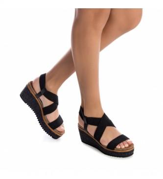 Refresh Sandálias 072923 preto -Cunha de altura: 7cm