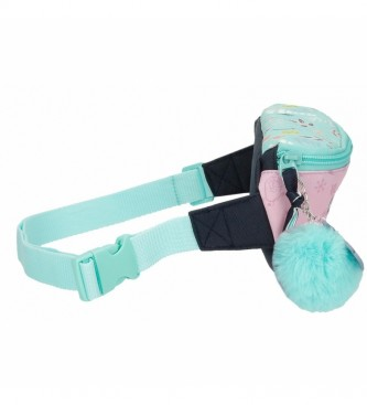 Joumma Bags Arandelle is Home pink and turquoise fanny pack -27x11x6.5cm