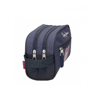 Pepe Jeans Toilet Bag Two Compartments Bright blue -26x16x12cm