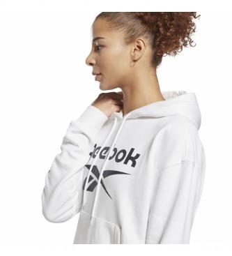 Reebok Felpa in French Terry con logo Identity bianca