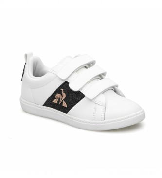Le Coq Sportif Sneakers COURTCLASSIC PS GIRL in pelle bianca, nera