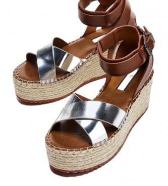 Pepe Jeans Sandálias Witney Colarinho prata -Cunha de altura: 7 cm