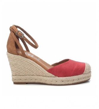 Xti Sandals 042310 red -Height of the wedge: 9cm