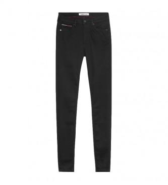 Tommy Hilfiger Jeans Sylvia HR Super Skny Stbks preto