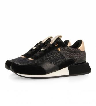 Gioseppo Zapatillas de piel Baltimore negro, dorado