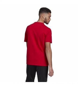 adidas Essentials - T-shirt brodé à logo linéaire - Rouge