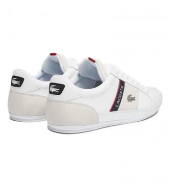 Lacoste Chaymon 0721 2 Tênis de couro CMA branco, marinha