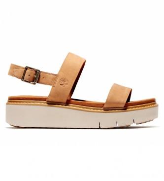 Timberland Leather sandals Safari Dawn 2 Band sand -Sandalias de piel Safari Dawn 2 Band arena -Sole height: 4,5cm