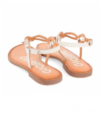 Gioseppo Sandálias de couro branco Fyffe