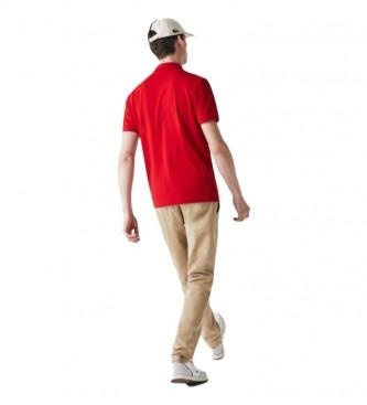 Lacoste Polo MC Chemise Col Bord-Cotes rossa