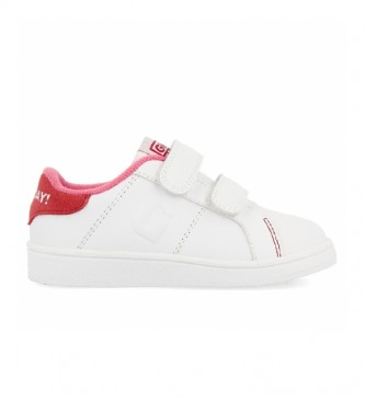 Gioseppo Sapatos de couro Volsk branco, rosa