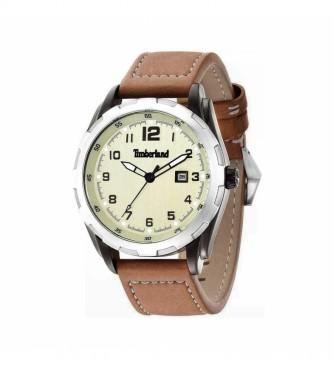 Timberland Relógio de couro analógico 13330XSU castanho