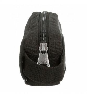 Pepe Jeans Trousse à crayons Dalton noire -19x5x3.5cm