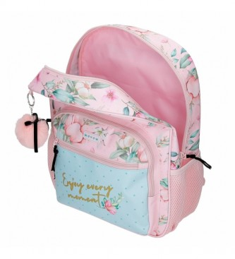Joumma Bags Movom Enjoy Every Moment Backpack 38cm pink, multicolor -30x38x12cm