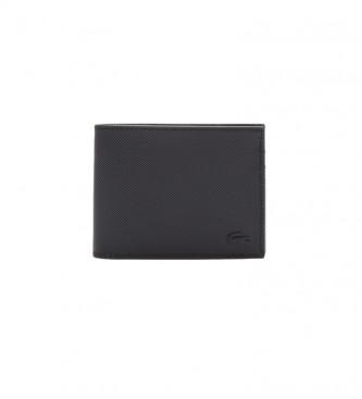 Lacoste S Portefeuille noir -11x9x2cm