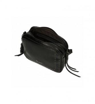 Pepe Jeans Saco de ombro chic preto -25x18x6,5cm